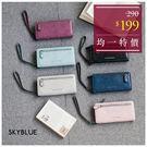 皮夾-經典字母壓印長夾/手拿包-共6色-A08080568-天藍小舖