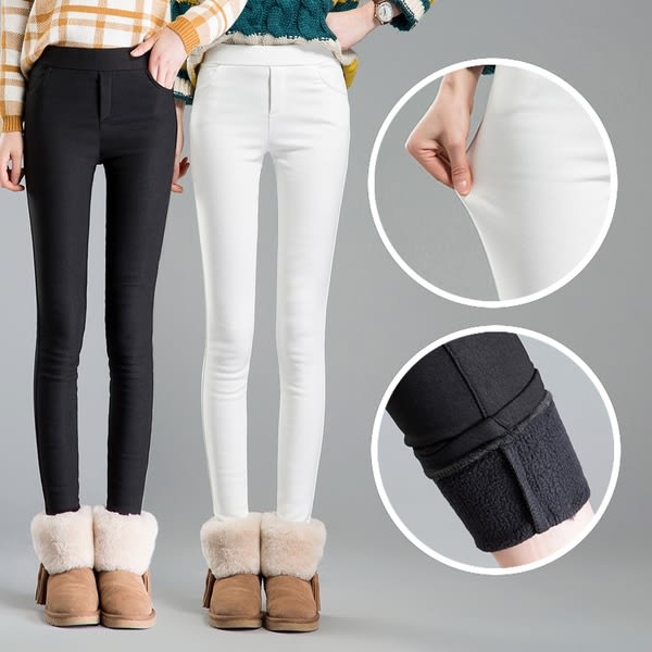 【GZ11】糖果色鉛筆褲 韓版加絨加厚外穿打底褲 百搭女褲子