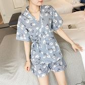 日式和服睡衣女春夏短袖韓版清新學生薄款夏季家居服兩件套裝夏天 【ifashion·全店免運】
