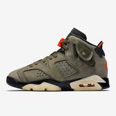 【現貨】NIKE Air Jordan 6 Retro GS Travis Scott 綠 紅 橄欖綠 女鞋 籃球鞋 聯名款 CN1085-200