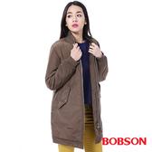 BOBSON 女款長版鋪棉棒球外套 (35141-83)