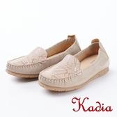 2018春夏新品kadia.紓壓樂活 拼接羊皮休閒鞋(8020-31棕)
