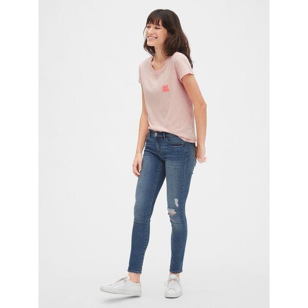 Gap女裝 舒適圓領短袖T恤 495436-粉色