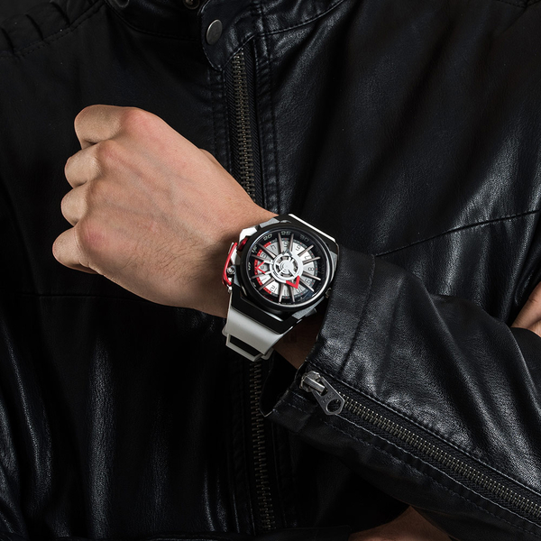 Mazzucato RIM 鷗翼式翻轉超跑雙機械石英手錶-48mm RIM13-WHCG10