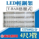 【奇亮科技】東亞照明 4尺3管LED T8輕鋼架燈具 附原廠燈管 LTTH4345 4尺*2尺輕鋼架燈具附發票