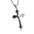 【5折超值價】【316L西德鈦鋼】經典美式復古風格十字架造型男款鈦鋼項鍊