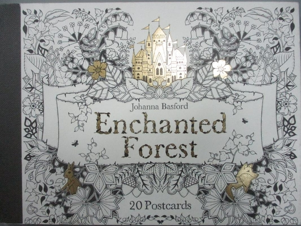 【書寶二手書T3/少年童書_HHA】Enchanted Forest Postcards: 20 Postcards_Johanna Basford