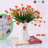 假花盆栽客廳擺設餐桌塑膠花裝飾