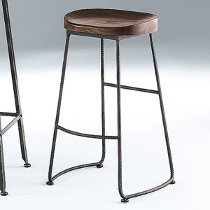 【YFS】蒂娜工業風鐵腳吧台椅-41x31x76cm
