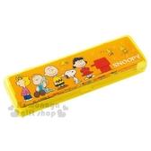 〔小禮堂〕史努比 三件式文具組附盒《黃.各角色.站姿》鉛筆.橡皮擦.筆盒 4941829-00583