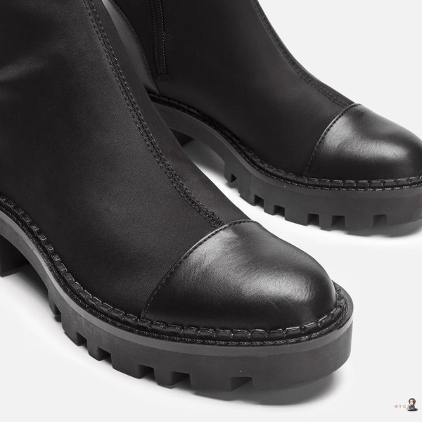 膝上靴 2020秋冬新款襪子靴粗跟彈力靴高筒騎士靴加絨
