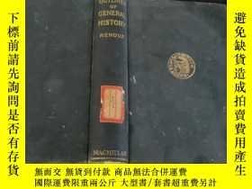 二手書博民逛書店OUTLINES罕見OF GENERAL HISORY (歷史綱