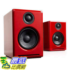 [7美國直購] Audioengine Red 紅色 揚聲器 B010OIVSDA A2+ Premium Powered Desktop Speakers Pair