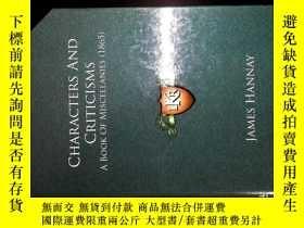 二手書博民逛書店CHARACTERS罕見AND CRITICISMSY26938