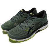 Asics 慢跑鞋 Gel-Kayano 24 綠 黑 透氣穩定 高支撐系列 運動鞋 男鞋【PUMP306】 T749N-8290
