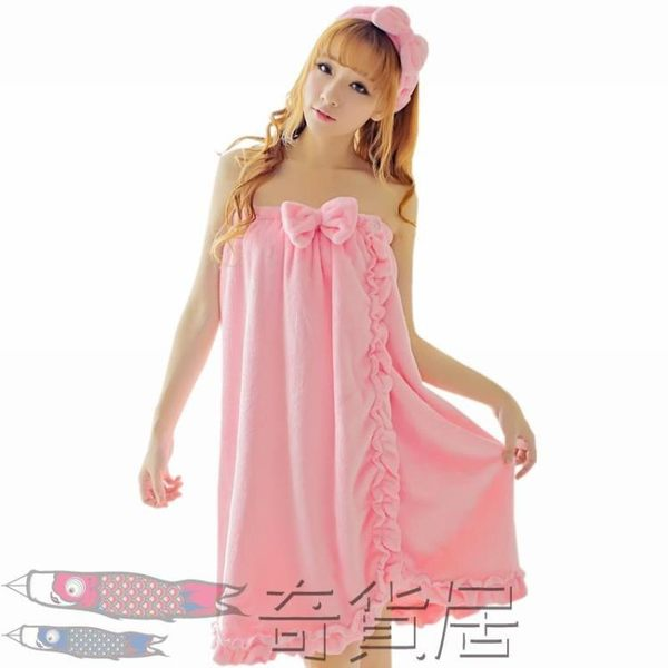 618大促 浴巾可穿成人女性感美容院浴裙裹胸比純棉柔軟吸水加厚春夏送發帶