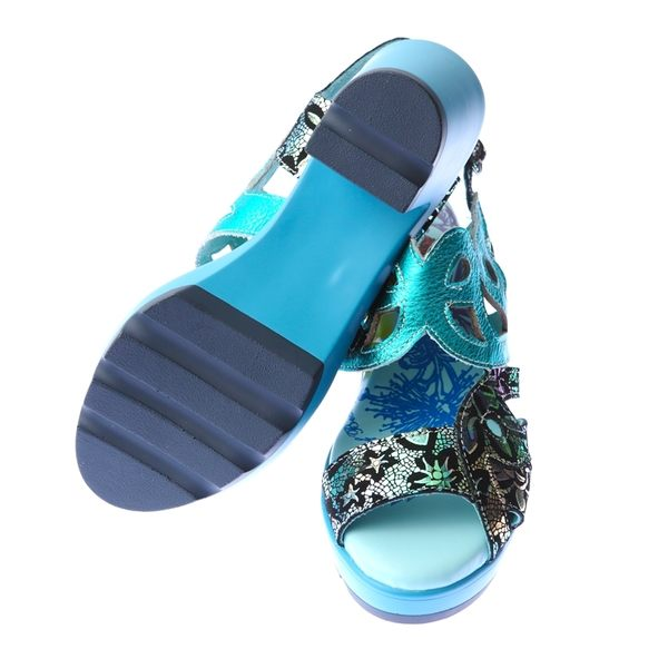 MODO.絕代風華/精製高貴搖滾金屬皮面-THE ONE-氣墊鞋/涼鞋(全牛皮)-EP00505 綠