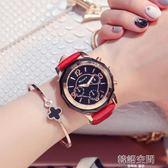 休閒皮帶女性手錶時尚潮流女士時裝錶韓版石英女錶大錶盤 韓語空間