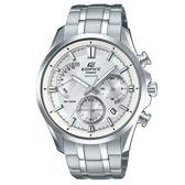 【CASIO】 EDIFICE 復古經典混搭風紳士腕錶-白(EFB-550D-7A)