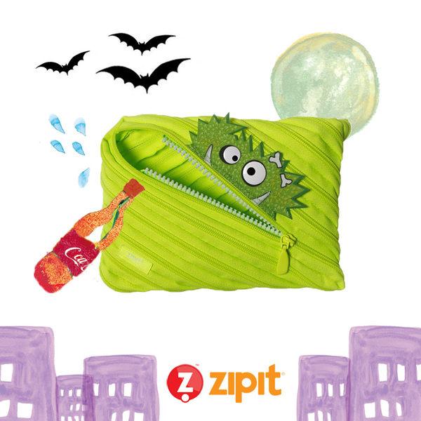 Zipit Talking 對話怪獸拉鍊包-(大)螢光綠