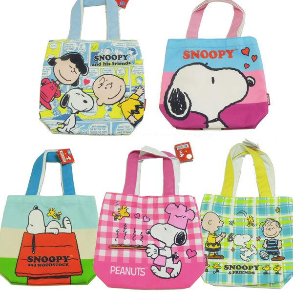 正版史奴比 Snoopy 方型帆布餐具袋 便當袋 媽媽袋 購物袋 外出袋 手提袋 萬用袋