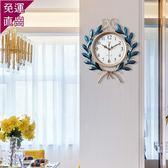 歐式鐘表時鐘掛鐘靜音客廳臥室家用北歐創意現代簡約大氣石英鐘WY  【快速出貨】