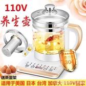 110V伏多功能電煮鍋 玻璃杯養生壺 美國電熱水壺 學生電熱鍋  圖拉斯3C百貨