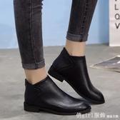 春季馬丁靴女英倫風百搭短靴平底韓版踝靴復古靴子2020新款及裸靴 俏girl