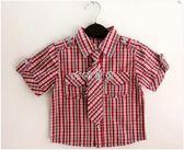 男嬰短袖襯衫 英倫童裝男童短袖襯衫寶寶純棉襯衣嬰兒格子上衣新款可拆卸領帶 珍妮寶貝