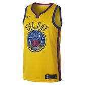 Nike STEPHEN CURRY 男裝 上衣 球衣 背心 NBA 金州 勇士隊 黃 【運動世界】 912101-728