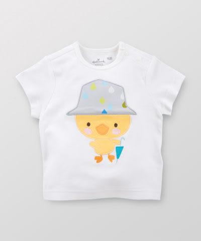【特惠6折】Hallmark Babies 雨中小鴨子長絨棉短袖上衣 HD1-B11-04-BU-MW