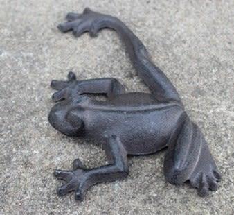 協貿國際鐵藝青蛙別墅庭院擺件1入