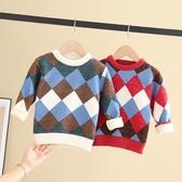 男童毛衣套頭2019秋冬款寶寶童裝加絨加厚兒童童洋氣針織打底衫-ifashion