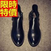 馬丁靴-真皮革歐美風高幫中筒男靴子65d14[巴黎精品]