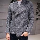 毛呢大衣-潮流韓版時尚休閒短款男外套1色72e25【巴黎精品】