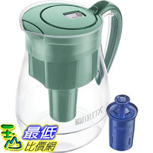 [8美國直購] Brita 含30周長效濾心 Large 10 Cup Water Filter Pitcher with 1 Longlast Filter, Reduces Lead, BPA Free