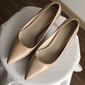 淺口高跟鞋 素面淺口時尚高跟鞋 艾爾莎 【TSB8830】