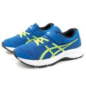 《7+1童鞋》中童 ASICS亞瑟士 CONTEND 6 PS 輕量 運動鞋 機能鞋 5273 藍色