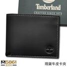 【Timberland】男皮夾 短夾 牛皮夾 多卡夾 大鈔夾 品牌盒裝/黑色