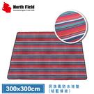 【North Field 美國 民族風防水地墊 300x300cm《桔藍條紋》】ND-146/防潮墊/野餐墊/地布睡墊