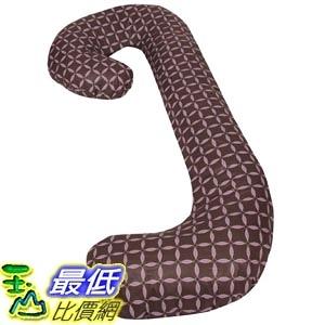 [美國直購] Leachco 拉鍊式 孕婦枕套 格子款 Snoogle Chic - 100% Cotton Snoogle Replacement Cover Zipper Brown