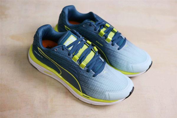 PUMA Faas 500 v4 水藍綠 螢光線條黑漸層 慢跑鞋 休閒  (布魯克林) 18752604