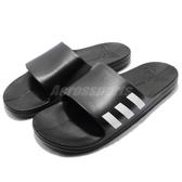 adidas 運動拖鞋 Aqualette 黑 白 舒適 涼拖鞋 基本款 三條線 男鞋【PUMP306】 CG3540