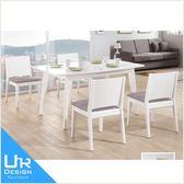 現代風奧斯卡白色5尺餐桌(18I20/A455-04)