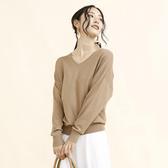 東京著衣-aimoha-basic V領縲縈蝙蝠袖針織上衣-M.L(U200003)