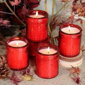 蠟燭香薰4只價~進口精油蠟燭香薰蠟燭杯香氛蠟燭無煙去味居家蠟燭熏香吸煙-凡屋
