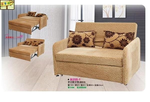 [ 家事達 ] 台灣DF-B255-2 多功能 沙發椅 沙發床-黑銀花 特價 限送中部