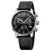 CK CALVIN KLEIN City 都會系列K2G271C3三眼計時手錶-43mm