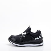 FILA  兒童氣墊慢跑鞋-黑 3-J402S-001