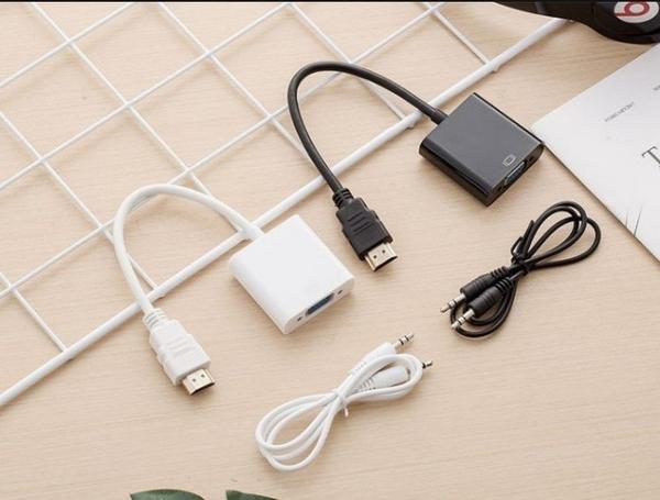 【保固一年】HDMI 轉 VGA HDMI 轉 VGA D-Sub 轉接頭 hdmi to vga 轉換器 轉接線音源